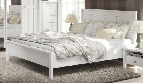 Bett Doppelbett 215348 weiß 160 x 200 cm