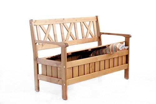 trendy home24 90460 massivholz truhenbank circa 120 cm landhausstil k chenbank sitzbank braun. Black Bedroom Furniture Sets. Home Design Ideas