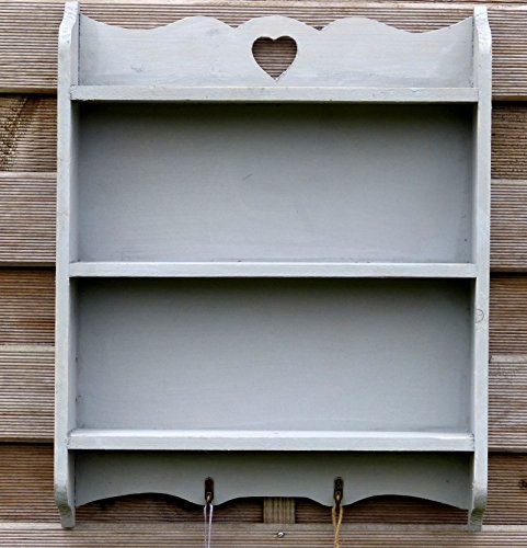 wandregal regal aus vollholz im landhaus stil mit 2 haken. Black Bedroom Furniture Sets. Home Design Ideas