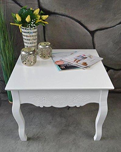 Couchtisch Beistelltisch Tisch Klein Antik Weiss Landhaus 60 X 60 Cm Sp51