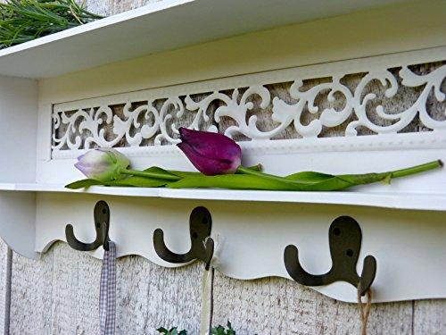 wandgarderobe garderobe kleiderhaken mit ablage und. Black Bedroom Furniture Sets. Home Design Ideas
