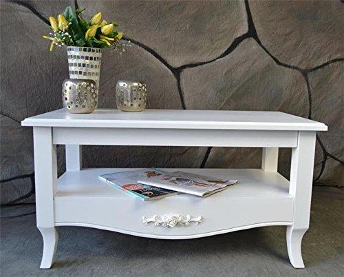 couchtisch beistelltisch tisch wohnzimmertisch antik wei. Black Bedroom Furniture Sets. Home Design Ideas