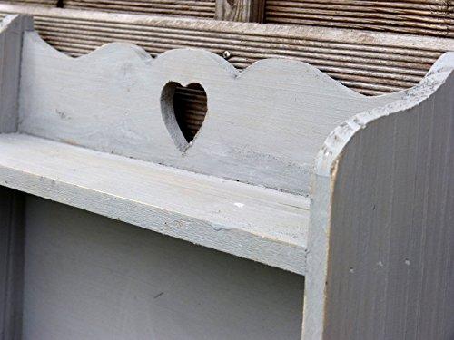 Wandregal Regal aus Vollholz im Landhaus Stil mit 2 Haken
