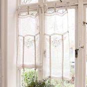 LOBERON Romantische Gardine Espaon im Landhausstil, creme